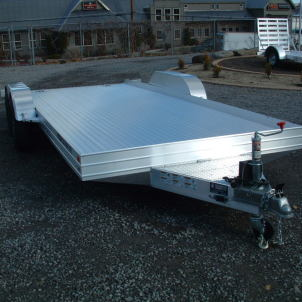 2015 Featherlite All Aluminum 3110 Open Car Hauler Front View