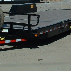 2016 BIG TEX 22' TILT DECK UTILITY TRAILER DRIVERS SIDE VIEW