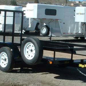 2017 BIG TEX 14' UTILITY TRAILER PASSENGRES SIDE VIEW