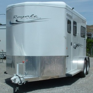 "2016 TRAILS WEST 15'11"" ROYALE 2 HORSE DRIVERS SIDE VIEW"
