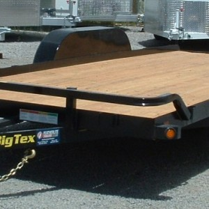 2016 BIG TEX 18' CAR HAULER DRIVERS SIDE VIEW