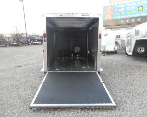 Silver Eagle II LX Enclosed Motorcycle Trailer Interior View
