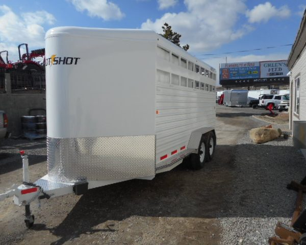 Trails West 17' Stock Trailer Drivers Side View