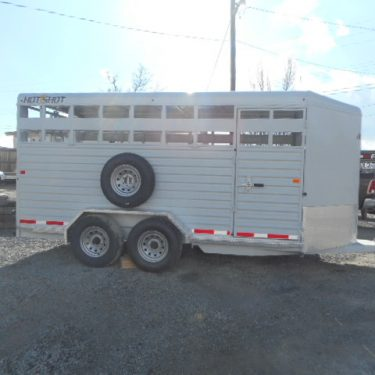 Trails West 17' Stock Trailer Passengers Side View