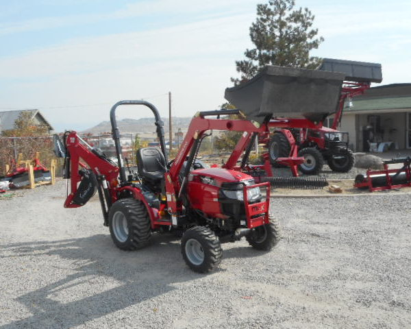 2017 Mahindra Max 24 W Backhoe Right Side Loader Up View