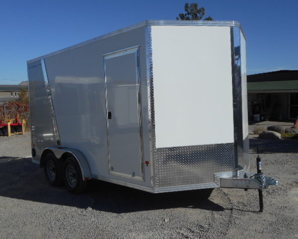 2018 Cargo Pro 7.5'x14' Stealth V Nose Trailer Front Right Side View
