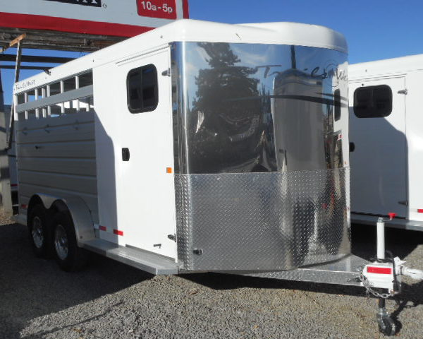 2018 Trails West Santa Fe II 18' Bumper Pull Stock Combo Trailer Right Side View
