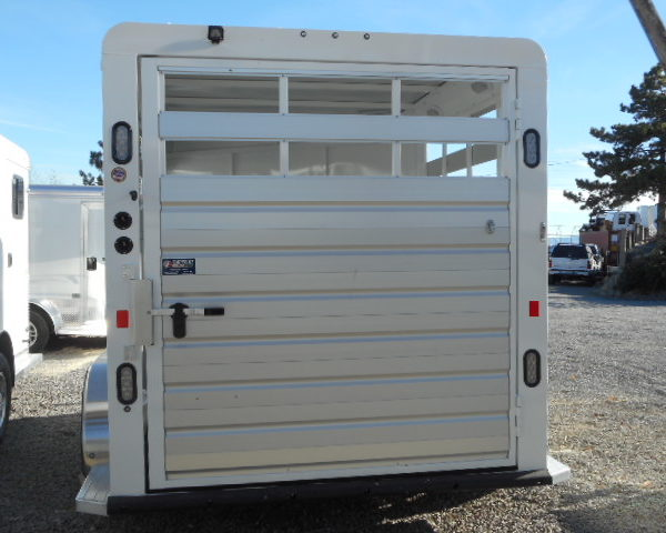 2018 Trails West Santa Fe II 21' Gooseneck Stock Trailer Backside View