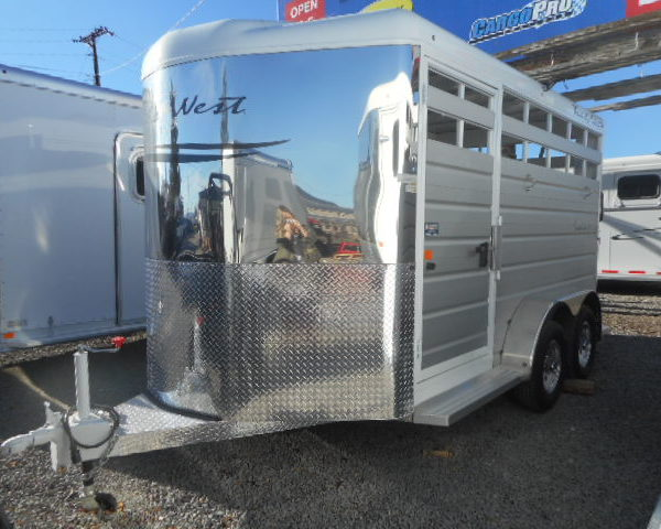 Trails West Santa Fe II 21' Gooseneck Stock Trailer Left Frontside View
