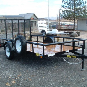 2015 Big Tex 35SA-10BK Single Axle Utility Front View
