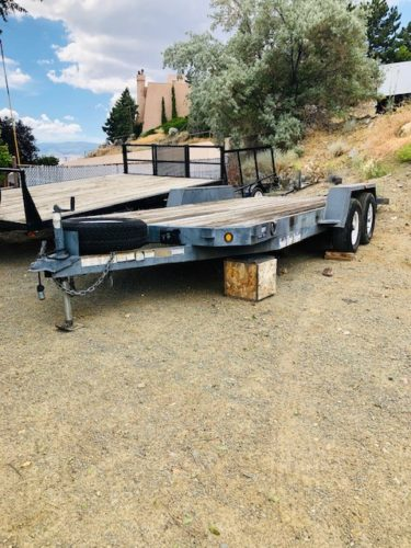 2006 Snake River 18′ Utility Trailer Front Driverside View