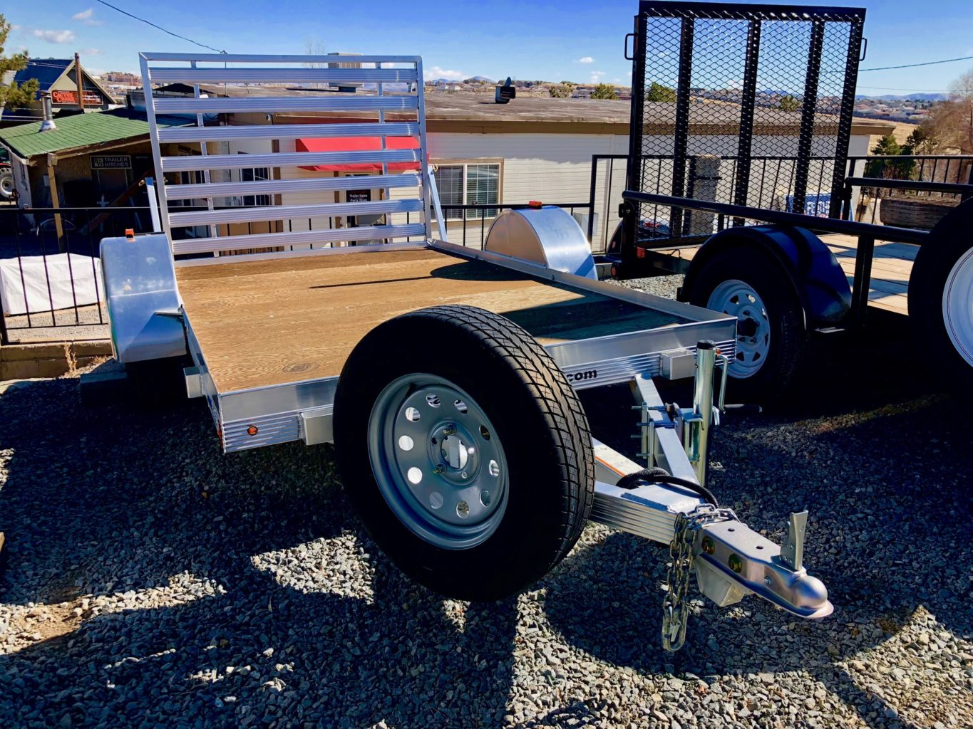 2016 CargoPro Sprint 10′ Open Aluminum Utility Trailer Right Front View