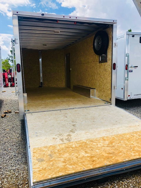 2019 Cargo Pro 16 ' Enclosed Trailer Back Passanger Open InSide View