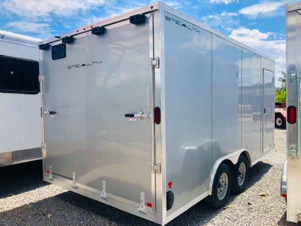 2019 Cargo Pro 16 ' Enclosed Trailer Back Passanger Side View