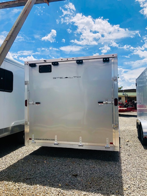 2019 Cargo Pro 16 ' Enclosed Trailer Back Side View