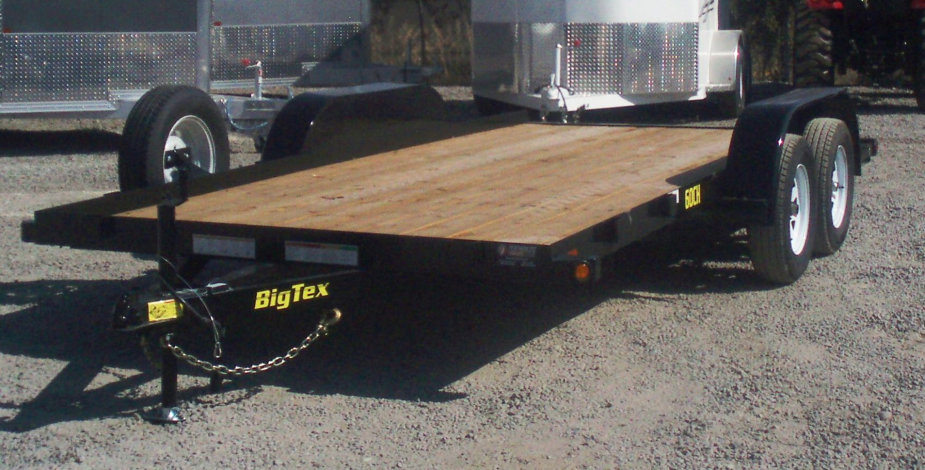 BIG TEX 16′ CAR HAULER DRIVERS SIDE VIEW