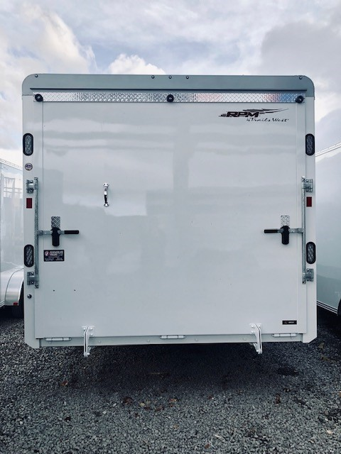 2019 Trails West 28′ RPM Gooseneck Trailer Back Side View