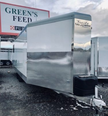 2019 Trails West 28′ RPM Gooseneck Trailer Front Passanger Side View