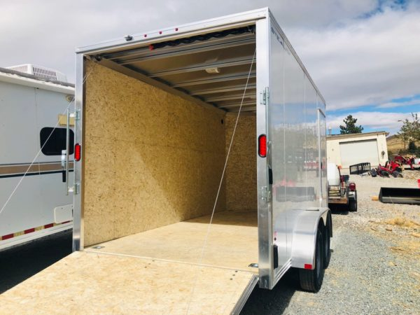 Enclosed Trailer Back Corner Side View