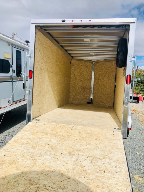 CargoPro 14′ Enclosed Trailer Back Inside View