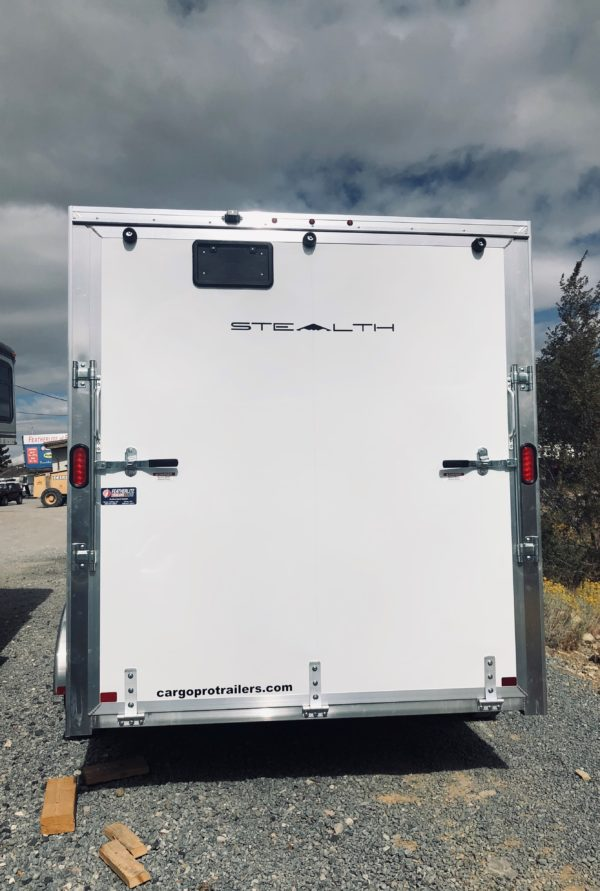 Enclosed Trailer Back Side View