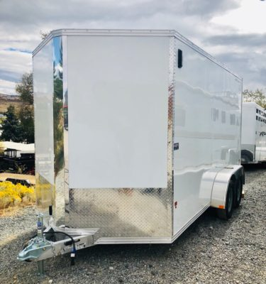 Stealth Enclosed Trailer Front Driverside View