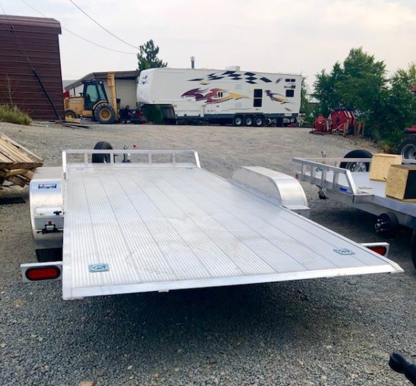 CargoPro 18′ Tilt Car Hauler Trailer Backside View