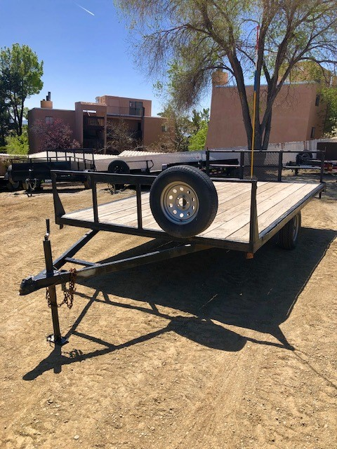 2010 Walton 14′ Deck Over Trailer Front Driverside View