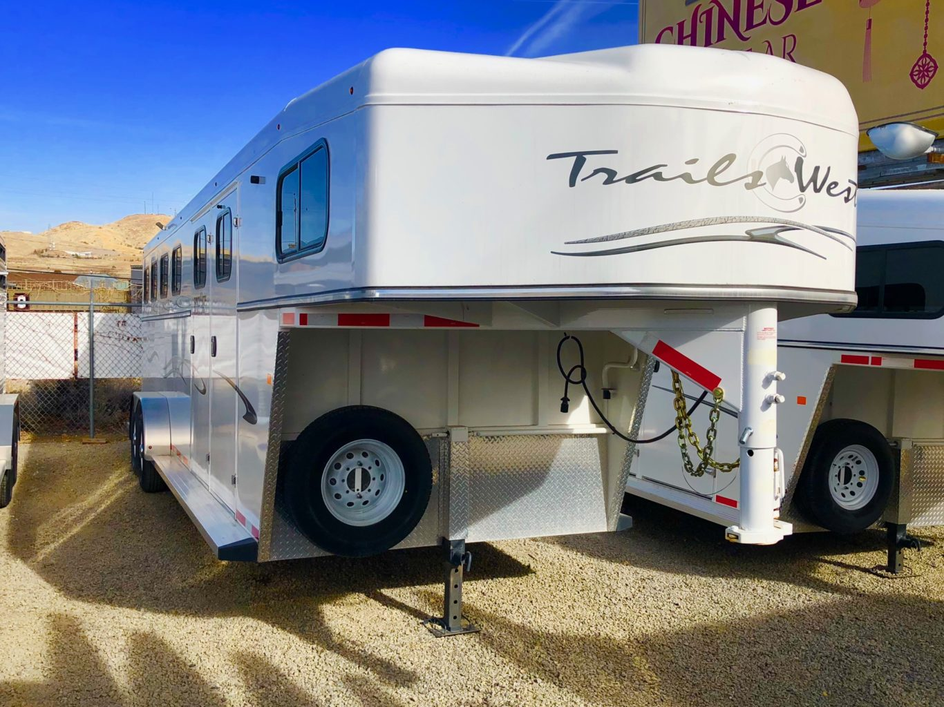 2016 Trails West Classic 21′ 4 Horse Trailer Front Right Side View 2
