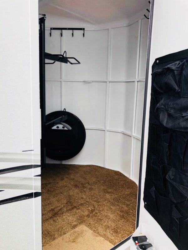 2018 Trails West 12′ Adventure II 2 Horse Closeup Tac Room