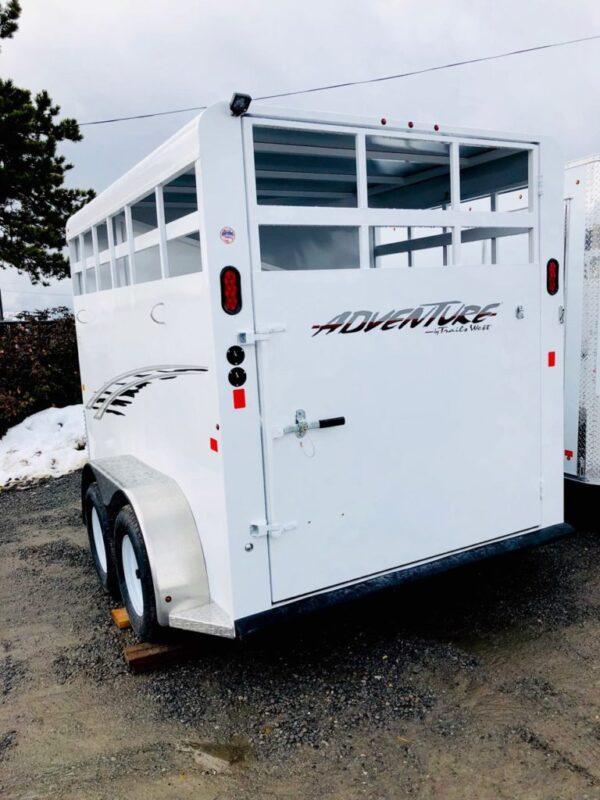 2018 Trails West 12′ Adventure II 2 Horse Trailer Left Back Side View