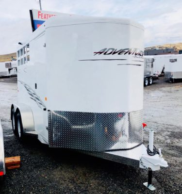 2018 Trails West 12′ Adventure II 2 Horse Trailer Right Front Side View