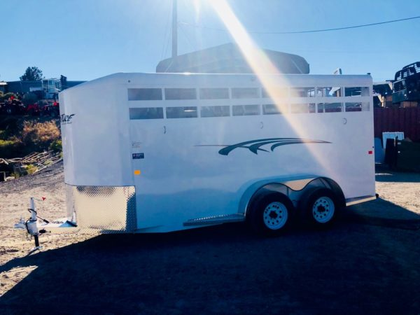2019 Trails West 15′ Adventure II 3 Horse Side View 2