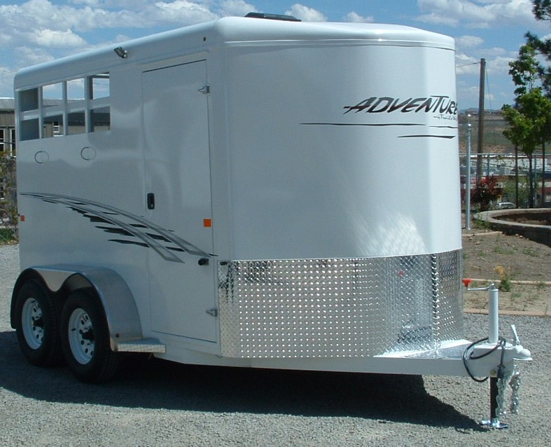 2016 TRAILS WEST ADVENTURE II 2 HORSE PASSENGERS SIDE VIEW