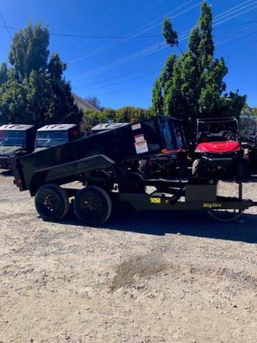 Big Tex 90SR Dump Trailer Posed View