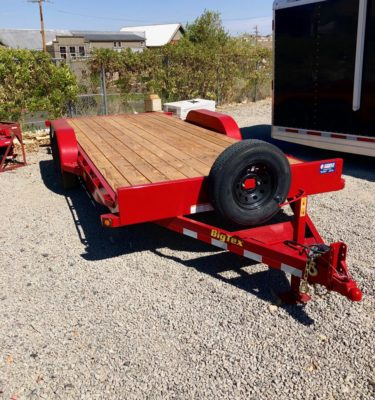 2019 Big Tex 18′ Equipment Utility Trailer Front Passanger View