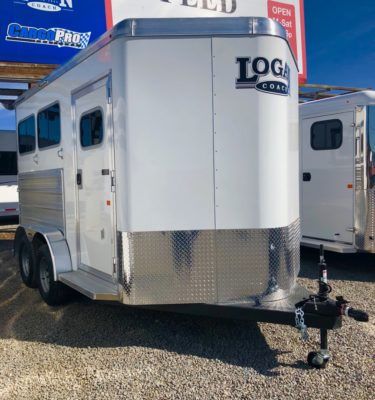 2019 Logan Riot 2 Horse Trailer Right View Side