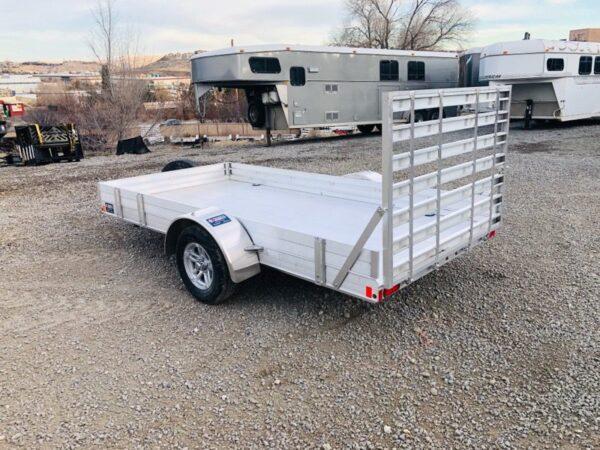2018 CargoPro 12′ Aluminum Deck Trailer Back Driverside View