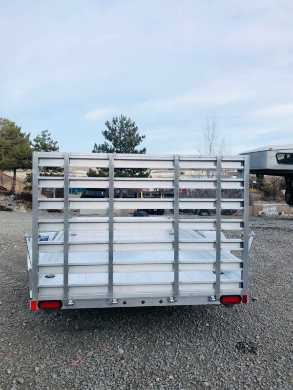 2018 CargoPro 12′ Aluminum Deck Trailer Backside View