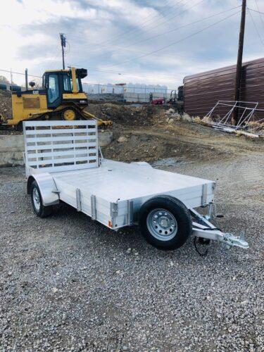 2018 CargoPro 12′ Aluminum Deck Trailer Front Driverside View