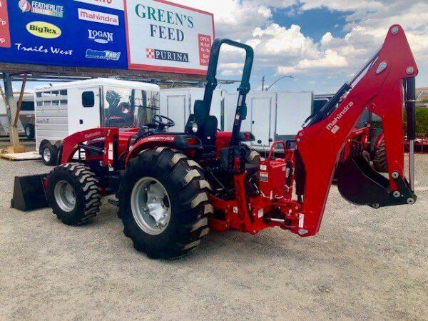 2018 Mahindra 3550 Tractor Backside Backhoe View