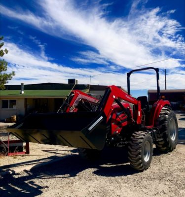 Mahindra 2555 Tractor Front Driverside View