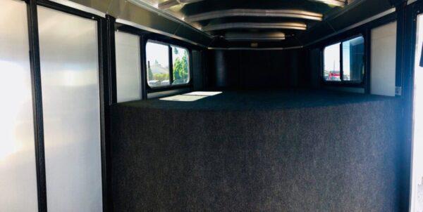 2019 Logan Stock Combo 21′ GN Trailer Inside Tac Room Gooseneck View