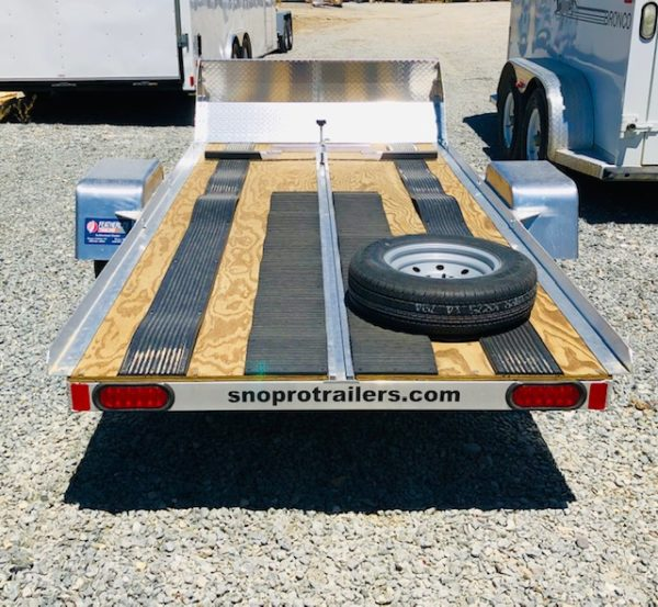 2019 SnoPro 10′ Snow Mobile Trailer Back Side View