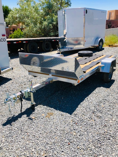 2019 SnoPro 10′ Snow Mobile Trailer Front Passanger Side View