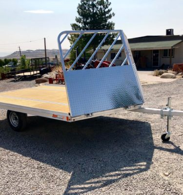 2019 SnoPro 12' SA Trailer Front Passanger Side View