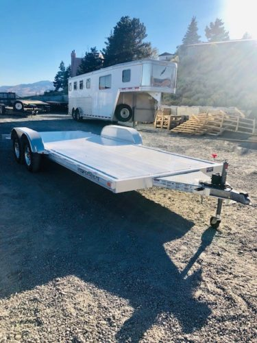 Featherlite 3182 Car Hauler Trailer Front Passanger Side View