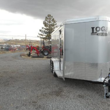 Silver Eagle II LX Enclosed Motorcycle Trailer Passengers Side View