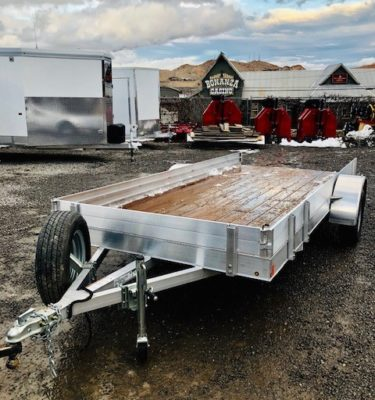 2018 CargoPro 14′ Digger Utility Trailer Front Driverside View