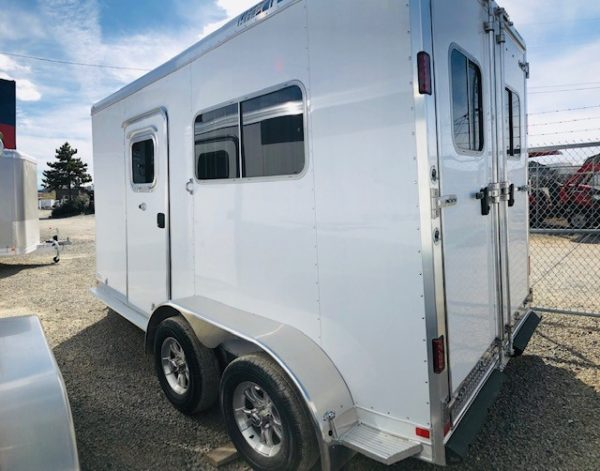 Featherlite 9407 Warmblood 2H Trailer Back Driverside View